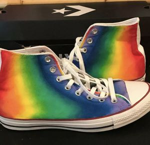 Converse Rainbow 🌈All Star Hi-Top Sneakers!!! for Sale in Lutz, FL