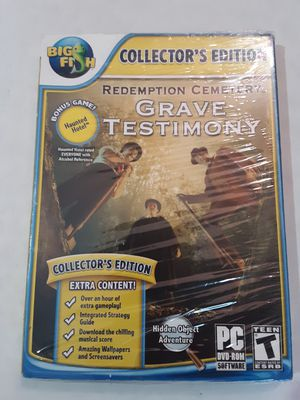 Redemption Cemetery Grave Testimony Collector's Edition PC Game DVD-ROM for Sale in Shelbyville, TN