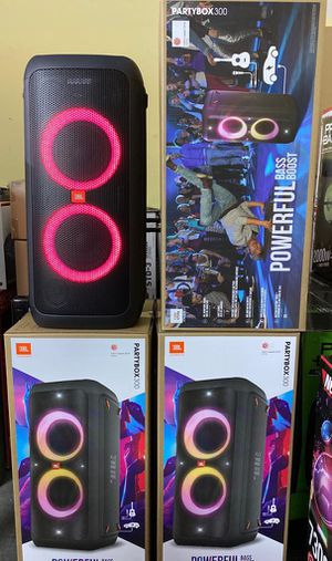 Brand new JBL party box 300. Light shows. Rechargeable battery. Mic and guitar inputs. Bluetooth speakers for Sale in Miami, FL