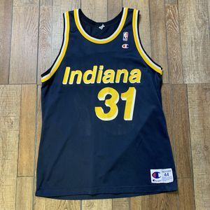 Used, Vintage Reggie Miller Indiana Pacers NBA Champion Jersey 44 Large 90s for Sale for sale  Woodbridge Township, NJ