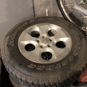 """Five 18"""" Jeep Wrangler Wheels and All Terrain Tires for Sale in North Royalton, OH"""