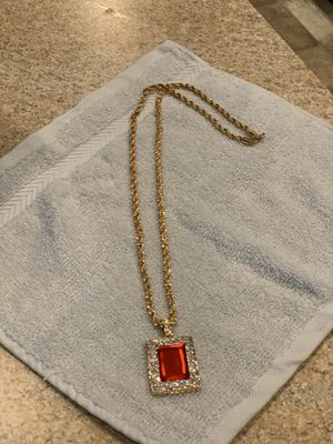 Men's Necklace with Charm for Sale in Madison Heights, VA