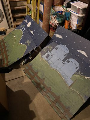 Christmas nativity backdrop painting for Sale in Walnut Creek, CA