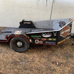 Motor Cycle Trailer With Pull Out Ramp for Sale in Tampa, FL