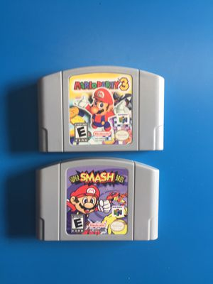 Smash Bros and Mario Party 3 n64 Nintendo games for Sale in Laguna Beach, CA