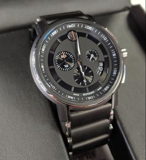 New $1,995 Movado Strato Swiss Made Men's 44mm Black Chronograph Sport Watch for Sale in Carlsbad, CA