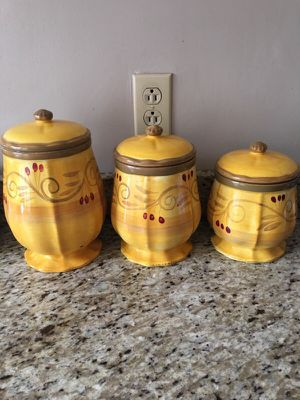 Ceramic canister set for Sale in St. Louis, MO