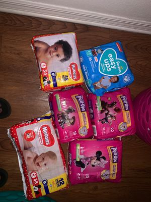 Huggies pull ups and diapers for Sale in Tampa, FL