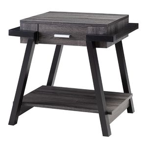 NEW IN THE BOX.END TABLE - DISTRESSED GREY & BLACK, SKU#192339ET-TC for Sale in Santa Ana, CA