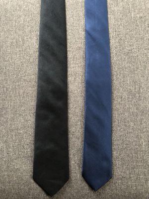 2 Men's Ties, H&M Black & Michael Kors Navy for Sale in Boston, MA