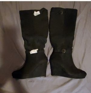 Knee High Wedge Boots - Size 11 for Sale in Baltimore, MD