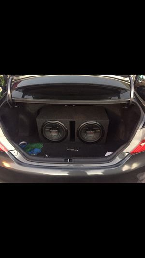 2 pioneer subwoofer speakers champion series + 2400 W amplifier pioneer champion series for Sale in San Francisco, CA