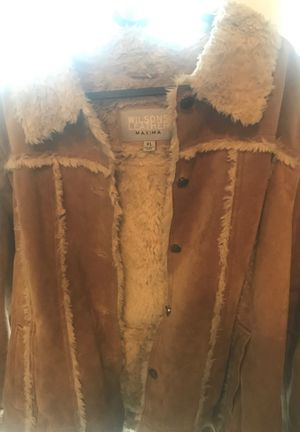 Ladies leather XL winter jacket for Sale in Rockville, MD
