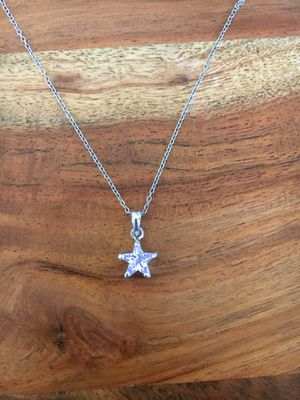 925 Sterling Silver Star Necklace for Sale in Hesperia, CA