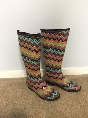 Missoni for Target Rain Boots Size 6 for Sale in Houston, TX