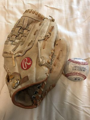 Baseball glove and ball for Sale in Naperville, IL