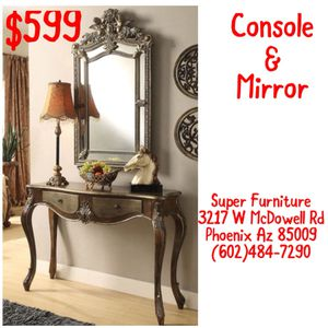 Console table & mirror for Sale in Phoenix, AZ