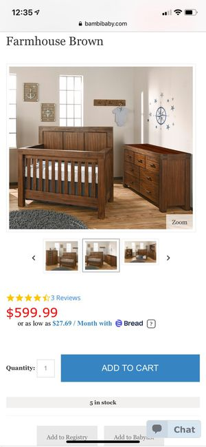 Oxford Crib and 7 Drawer Dresser for Sale in Humble, TX