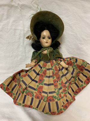 Antique Madame Alexander Scarlett O'Hara 15 in Composition Doll Green Velvet Dress & Hat for Sale in Yorba Linda, CA