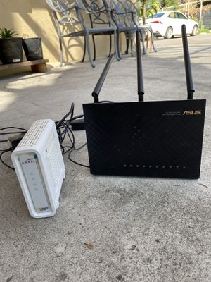 Asus router and modem for Sale in Garden Grove, CA