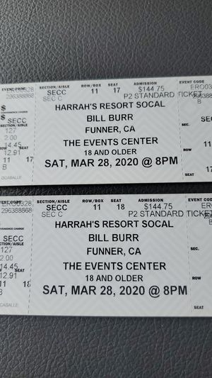 Bill Burr in concert at Harrahs resort in Rincon for Sale in Escondido, CA