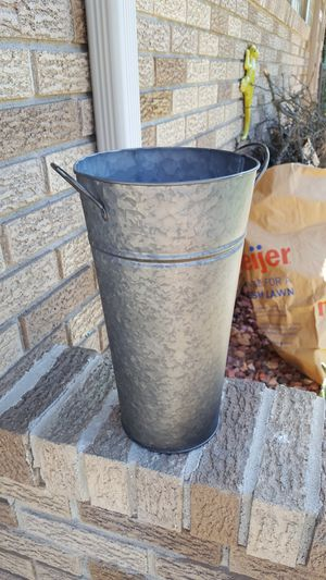Larger size galvanized buckets for Sale in Taylor, MI