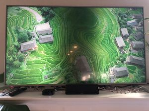 """Panasonic 65"""" led tv w/stripe on center of screen for Sale in Spring Hill, TN"""