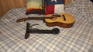 Acoustic Guitar with stand & book for Sale in Spring, TX