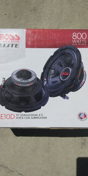 Subwoofer ten inch for bass add too your current car audio system already got window tint ? Add this woofer for your truck rv for Sale in HUNTINGTN BCH, CA