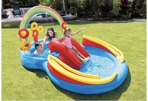 """Intex Rainbow Ring Inflatable Play Center, 117"""" X 76"""" X 53"""", for Ages 2+ for Sale in Queens, NY"""