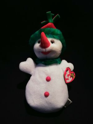Mint Condition Ty Beanie Babies Snowgirl The Snowman Hat And Scarf Blue Holiday Snowflake Tag for Sale in Portland, OR