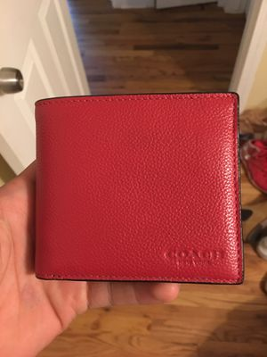 Coach wallet (color red) for Sale in Eastpointe, MI