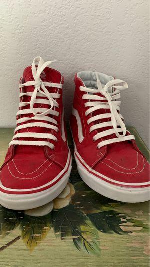Red high top vans for Sale in Alameda, CA
