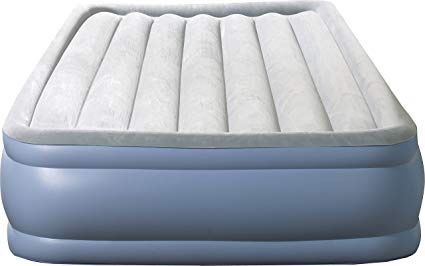 Inflatable queen mattress with electric pump
