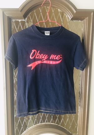 """Obey Me"" - Juniors Novelty Belly Tee (Size S) for Sale in Independence, OH"
