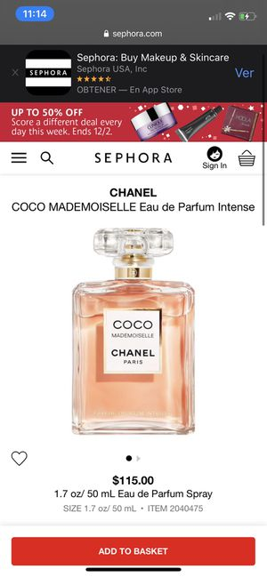 Coco chanel perfum 35 ml (small) for Sale in Kissimmee, FL