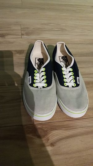 Brand New Custom Made Seahawks Color Vans 7.5 for Sale in Seattle, WA