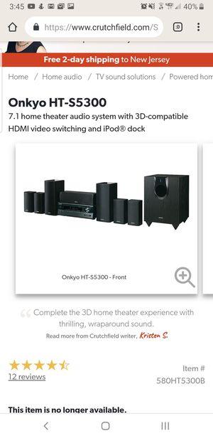 Onkyo 7.1 surround sound with sub for Sale in Pennsauken Township, NJ