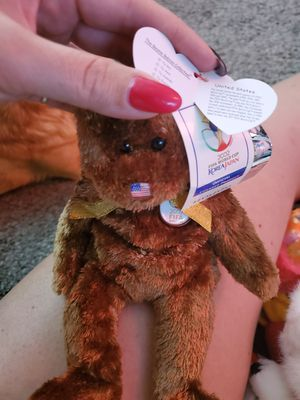 United States the bear TY beanie baby for Sale in Salt Lake City, UT