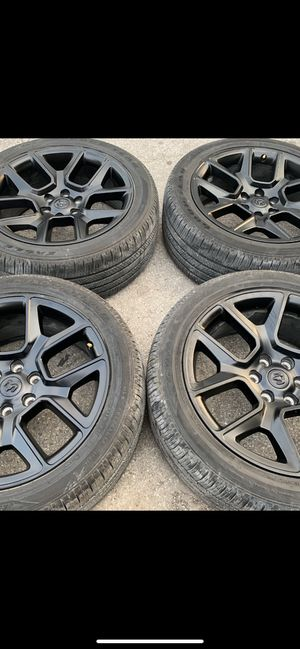 "New 22"" Black Dodge Ram Rims and Goodyear Tires 22 Laramie Limited Wheels 22s 2020 / 2019 Rines y Llantas Oem factory's factory original Take offs of for Sale in Dallas, TX"