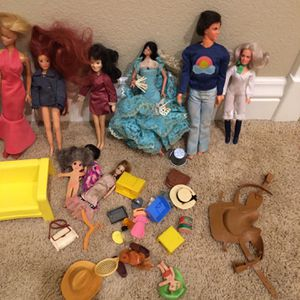 Vintage Barbie dolls and other doll collection with accessories for Sale in Boulder City, NV