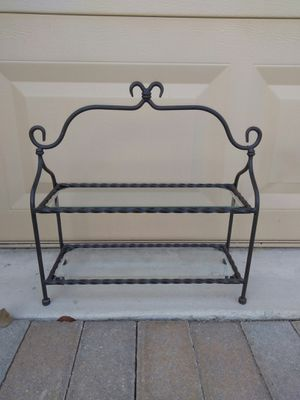 Beautiful small metal with glass shelf for Sale in Lake Worth, FL