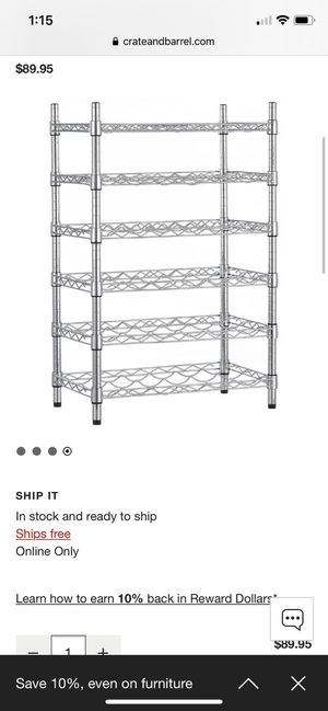 36 bottle wine rack - Crate and Barrel for Sale in Miami, FL
