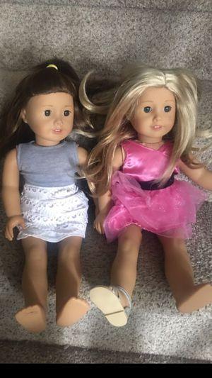 American girl doll blond hair brown hair for Sale in Bensalem, PA