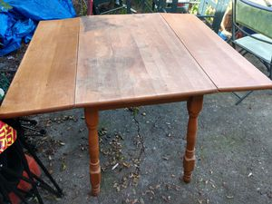 Solid wood drop leaf table for Sale in Tacoma, WA