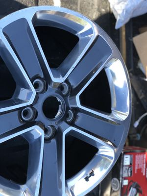 Have two different style rims a set of original Jeep Wrangler 17 in rims. And also have the set of Chevy Texas edition 20 in rims with tires I am as for Sale in Dallas, TX