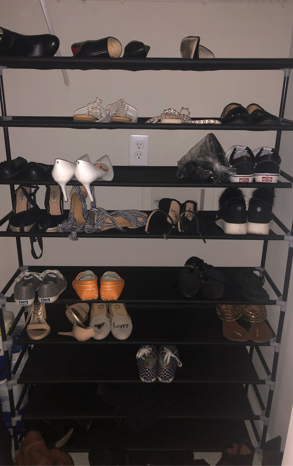 5 foot tall shoe rack
