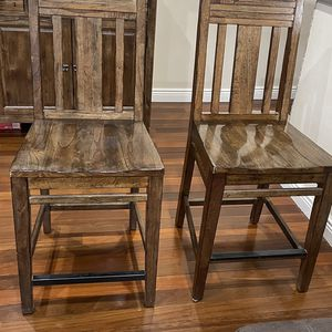 2 Kincaid Montreat White Cedar Rustic Distressed Saluda Tall Bar Stools for Sale in Queens, NY