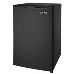Used RCA 4.5 Cu Ft Single Door Mini Fridge with Freezer, Black for Sale in Las Vegas, NV