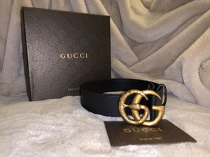 *New* Gucci Mens GG Snake Leather Belt for Sale in Bethesda, MD